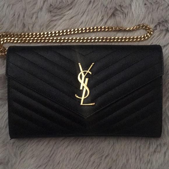 Yves Saint Laurent Handbags - YSL Large Wallet on chain (WOC)